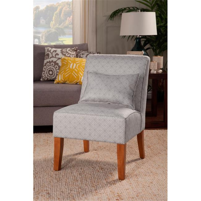 Kinfine USA K6857-F2035 Slipper Accent Chair, Grey by Kinfine USA Inc