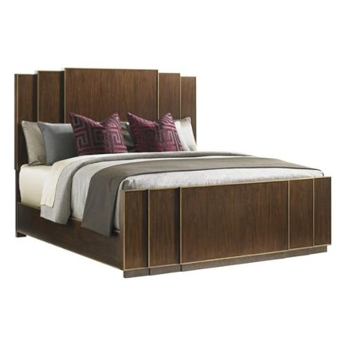 Lexington Tower Place Fairmont Wood Panel Bed in Walnut-King