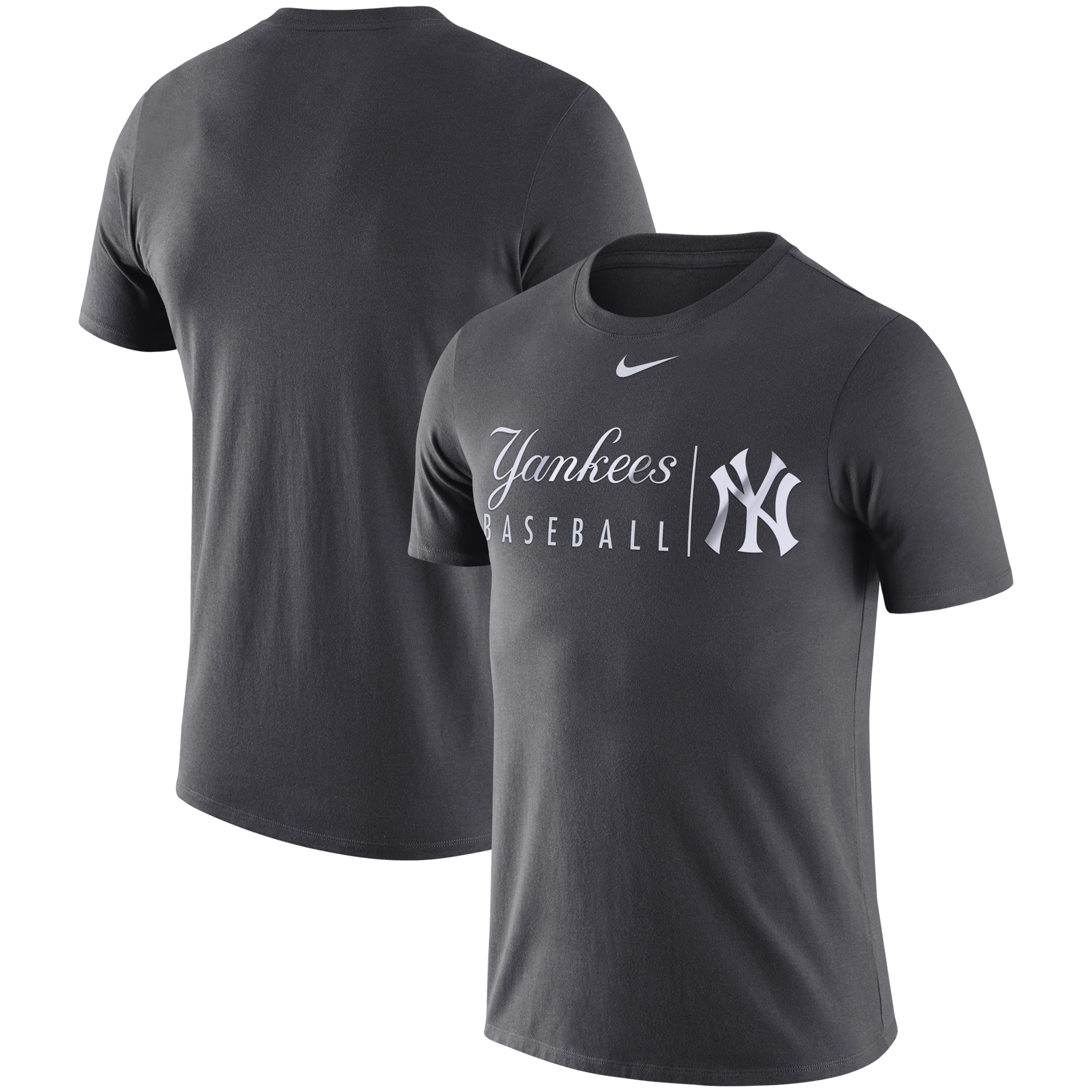 New York Yankees Nike MLB Practice T-Shirt - Anthracite