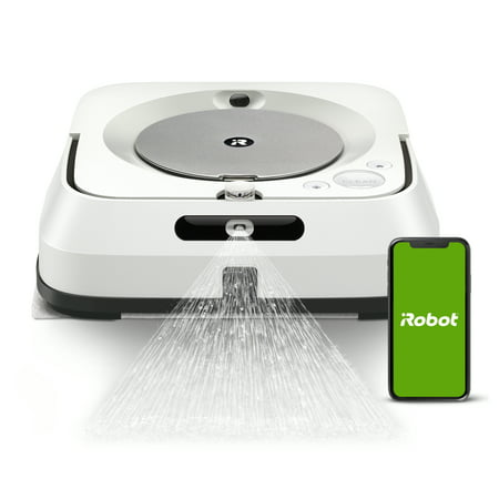 iRobot Braava Jet M6 (6110) Ultimate Robot Mop- Wi-Fi Connected, Precision Jet Spray, Smart Mapping, Works with Google Home, Ideal for Multiple Rooms, Recharges and Resumes