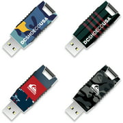 8GB EP Capless USB, DC Shoes and Quiksilver, 4-Pack