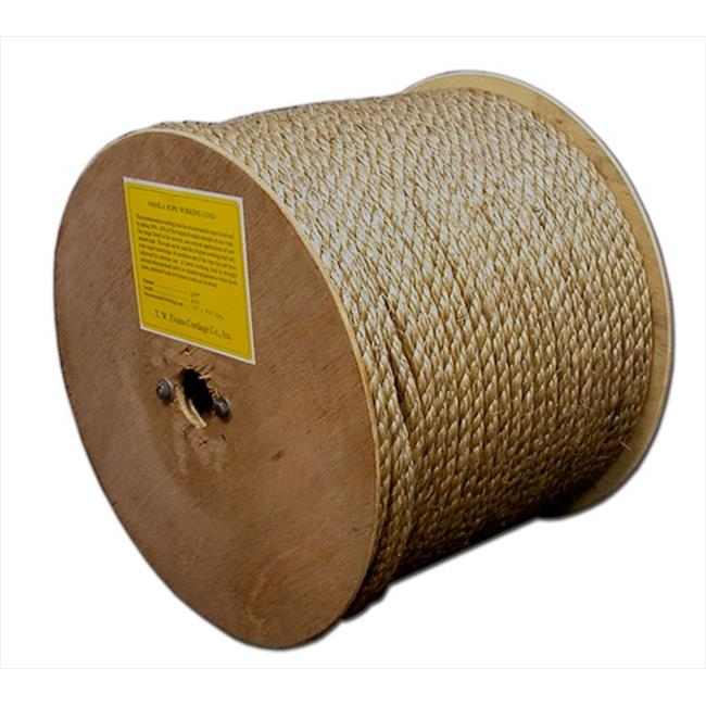 T. W.  Evans Cordage 25-033 . 375 inch x 300 ft.  Pure Number 1 Manila Rope Reel