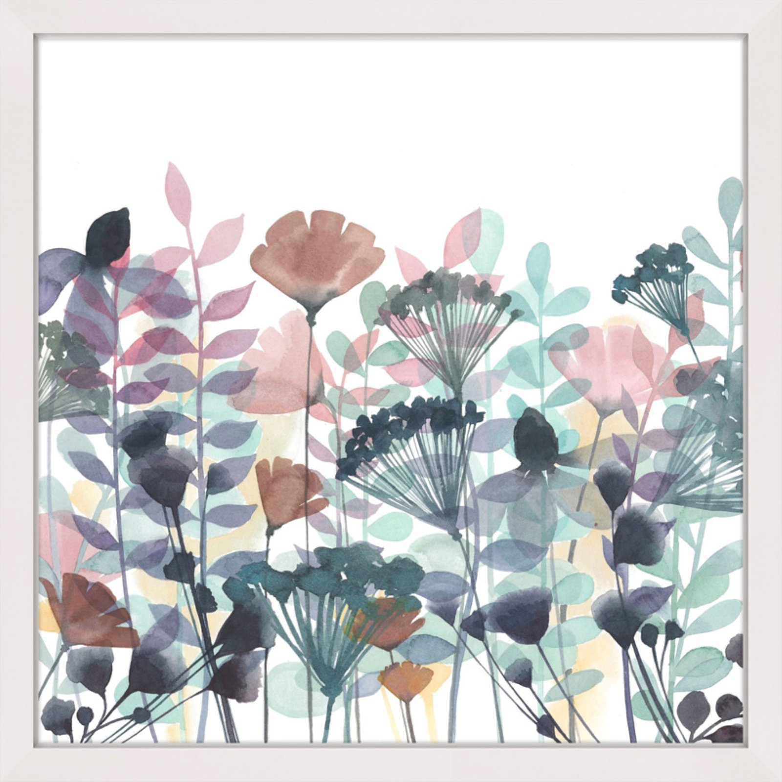"""Marmont Hill """"Winsome Flora II"""" Framed Painting Print"""