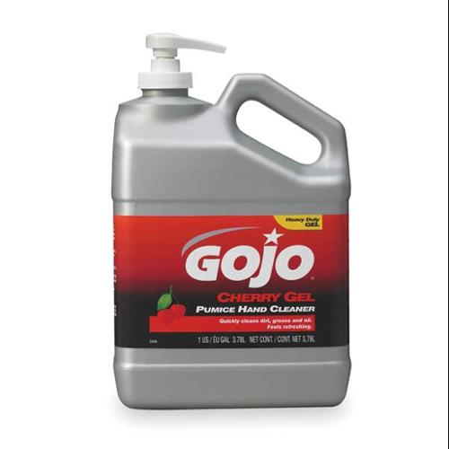 GOJO 2358-02 Gel Hand Cleaner, Cherry, Red, Pump Bottle