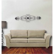 Legacy Home Collection Hand-Forged Metal Wall Scroll, Dark Bronze Finish