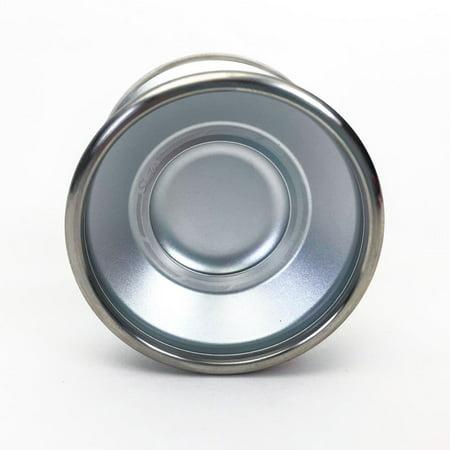 YoYoFactory Bi Metal Shutter Yo-Yo - Aluminum YoYo with Stainless Steel Rims - Gentry Stein (Silver) (Shutter Yoyo Yoyofactory)