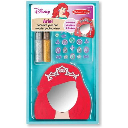 Disney Ariel Decorate Your Own Wooden Pocket Mirror