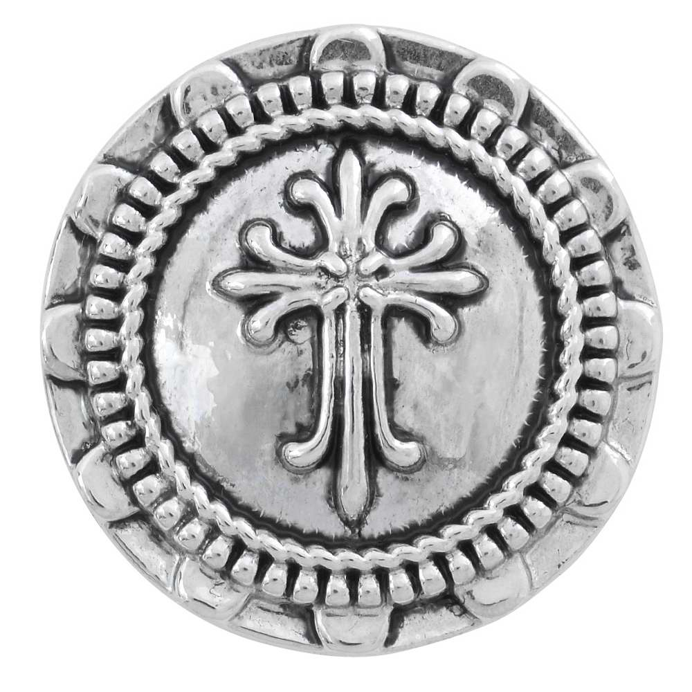 NUGZ Jewelry 83539 Charm-Nugz Snap On-Holy Cross-Silver