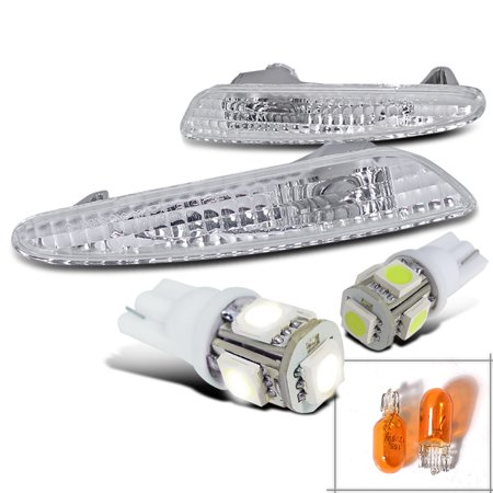 Spec-D Tuning For 2003-2006 Benz W211 E-Class Clear Bumper Lights Side Markers + T10 Smd Led Bulbs (Left+Right)
