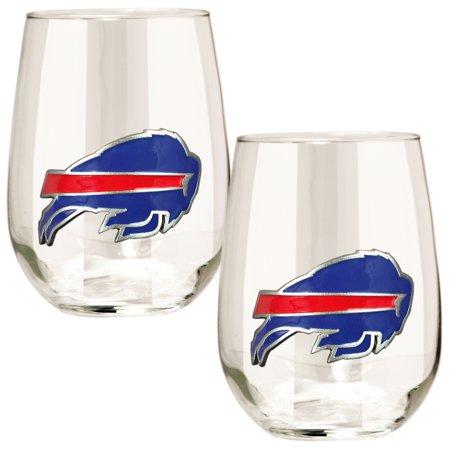 Buffalo Bills 15oz. Stemless Wine Glass Set American Classic Wine Set
