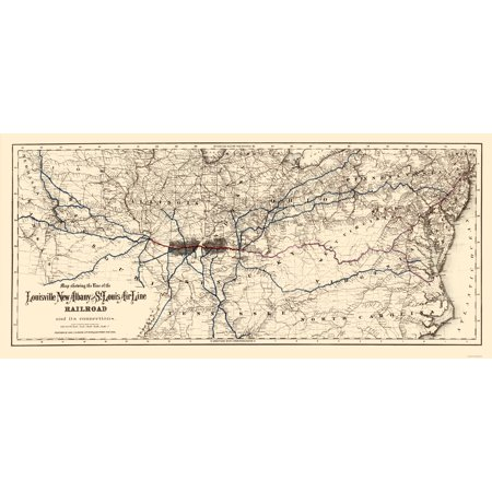 Louisville, New Albany and St Louis Air Line 1872 - - Louisville Air