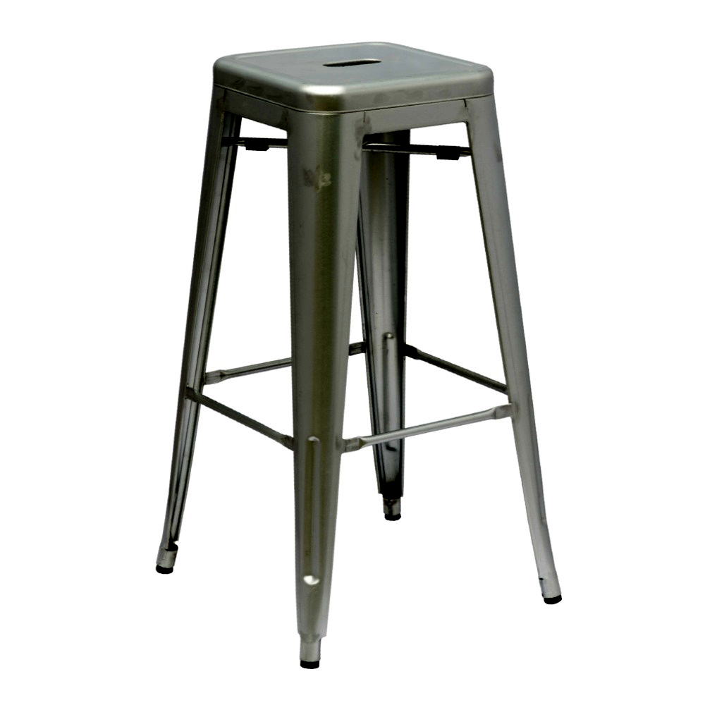 Fine Mod Imports Talix Bar Stool-Color:Gunmetal,Finish:Galvanized Steel,Style:Contemporary/Modern