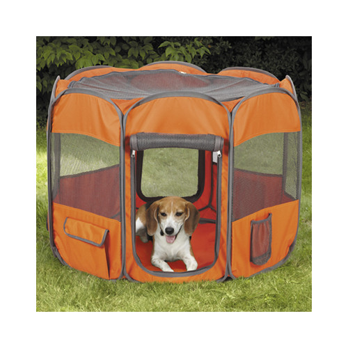 Insect Shield Fabric Exercise Pen Large, Orange