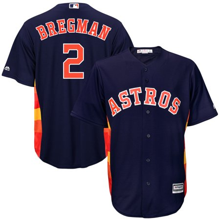 Majestic Mlb Custom Replica Jerseys - Alex Bregman Houston Astros Majestic Fashion Official Cool Base Replica Player Jersey - Navy
