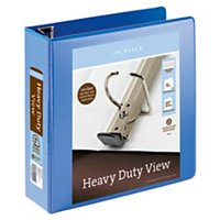"""Office Depot® Brand Heavy-Duty Easy Open® D-Ring View Binder, 3"""" Rings, 54% Recycled, Blue"""