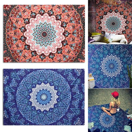Ombre Indian Tapestry Bedding Large Wall Hanging Elephant Mandala Throw Hippie Wall Art, Dorm Décor,Bedspread, Beach Throw Sun Shawl