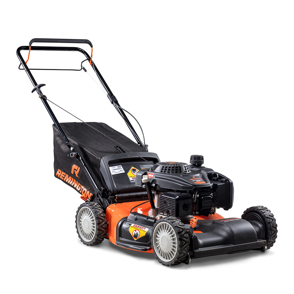 "Remington RM210 Pathfinder 21"" Self-Propelled FWD Gas Push Mower with Side Discharge, Mulching and Rear Bag"