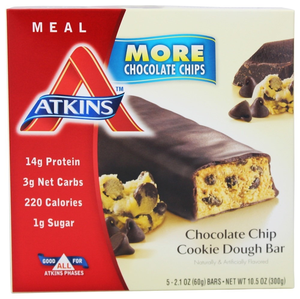 Atkins Meal Chocolate Chip Cookie Dough Bars 5-pack by Atkins Nutritionals, Inc.