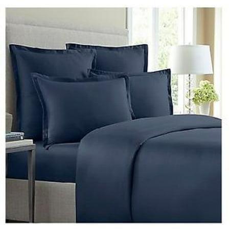 Wamsutta 620 Thread Count 1 Euro Sham Blue Jean ()