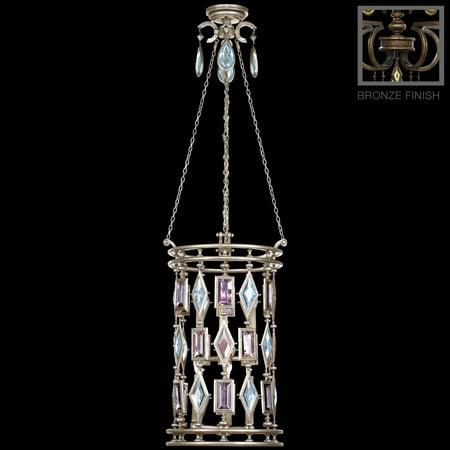 Encased Gems - Lantern ENCASED GEMS 6-Light Smoky Quartz Brown Bronze Patina Amber Perid FA-317