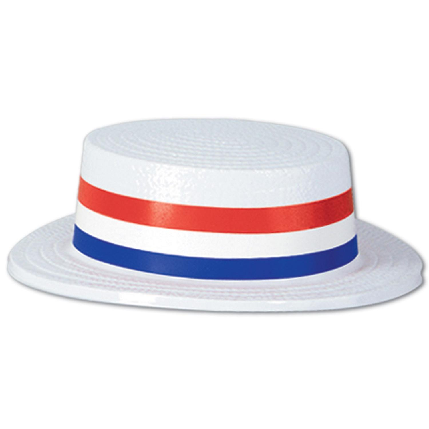 Pack of 24 Patriotic 4th of July Skimmer Party Hats with ...
