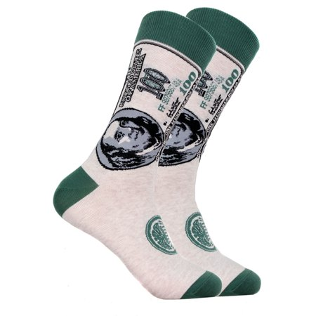 Mens Designer Novelty 100 Dollar Bill Cotton Socks