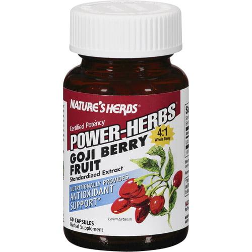 Natures Herbs Power-Herbs Goji Berry Fruit Extract 60 Capsules