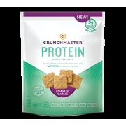 Crunchmaster Protein Roasted Garlic Cracker, 3.54 OZ (Pack of 12)