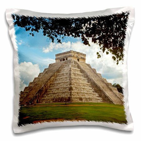 3dRose Mexico, Chichen Itza. The Main Pyramid. - Pillow Case, 16 by 16-inch ()