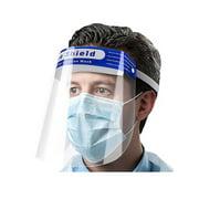 Full Face Shield Guard Protector Mask Clear+Head Band Elastic Reusable 10pcs