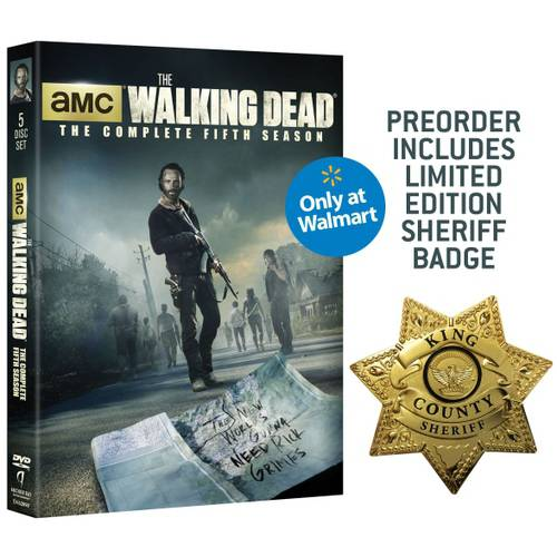 The Walking Dead: The Complete Fifth Season (DVD + Limited Edition Sheriff Badge) (Walmart Exclusive) (Widescreen, WALMART EXCLUSIVE)