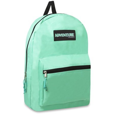 Adventure Trails Girls Mint Green Durable Zipper Pocket School ...