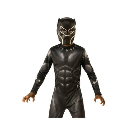 Marvel Black Panther Movie Black Panther Child 3/4 Mask Halloween Costume Accesory - Halloween Costume With Mask