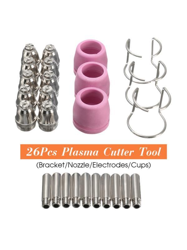 26Pcs PL60 Plasma Cutter Torch Tips For LTP5000D LTP5000 LTPDC2000 LTPDC2000D