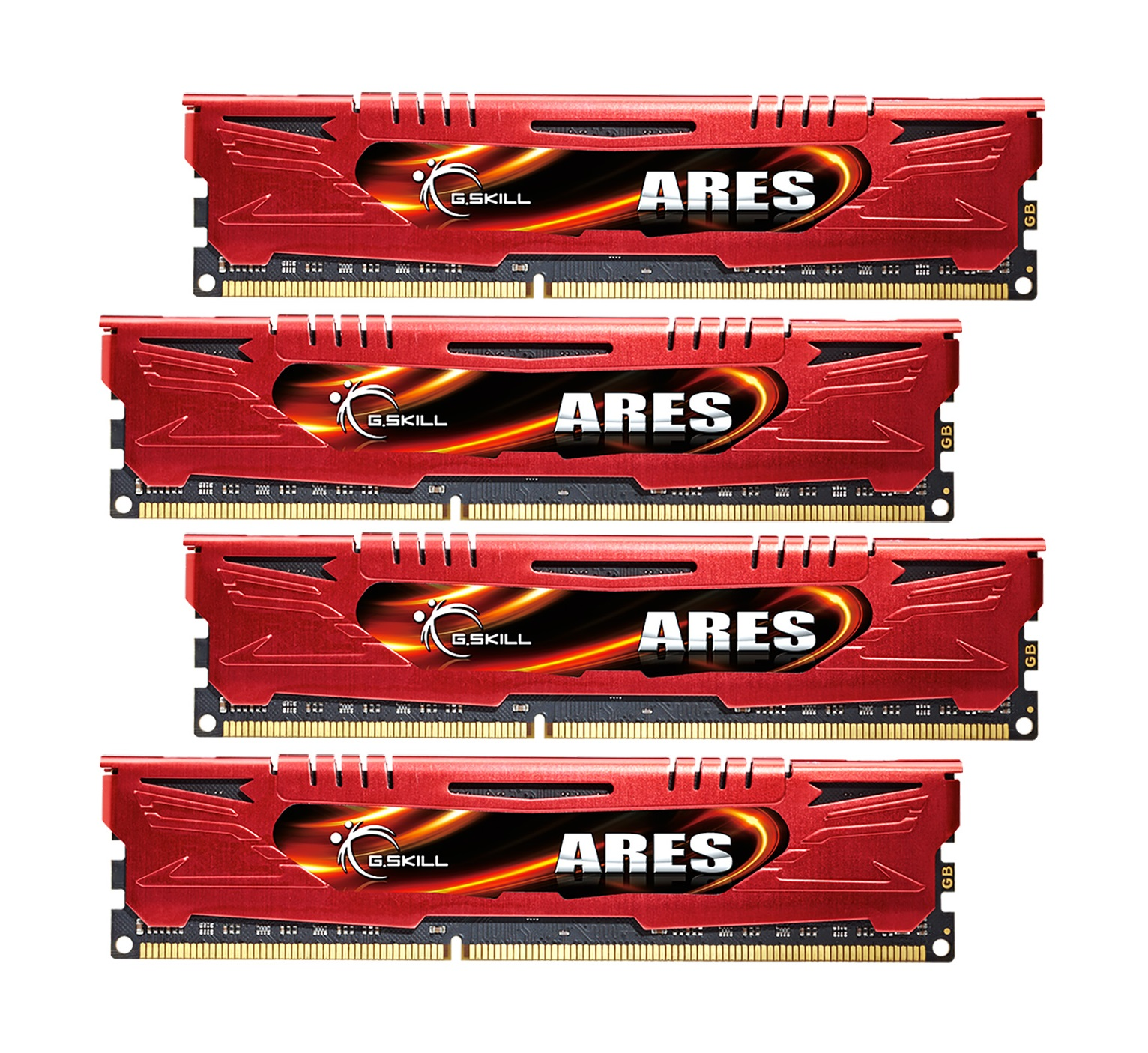 32GB G.Skill DDR3 PC3-17000 2133MHz Ares Series Low Profile (11-13-13-31) Red Quad Channel kit 4x8GB