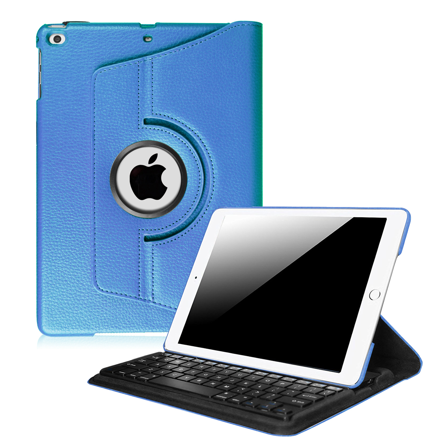 Fintie 360 Degree Rotating Keyboard Case Cover for iPad 9.7 inch 2017 2018  iPad Air   iPad Air 2, Royal Blue by Fintie