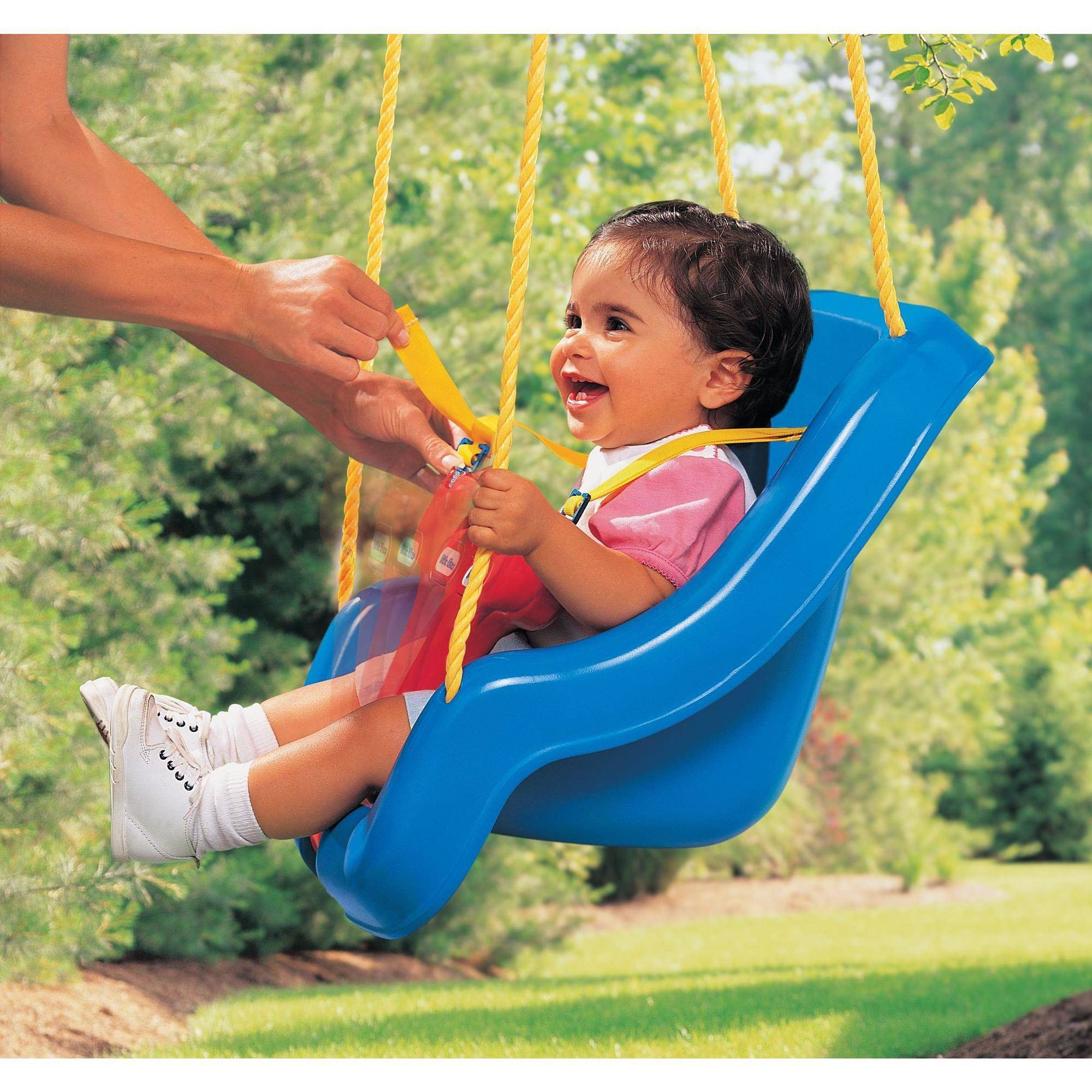 Little Tikes 2 in 1 Snug n Secure Swing Blue Retail Packaging