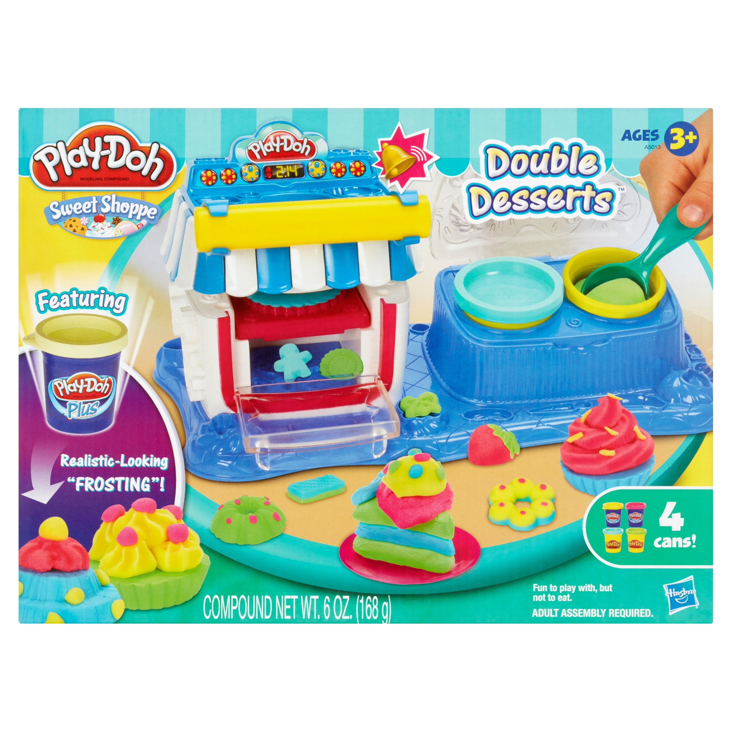 Hasbro Play-Doh Sweet Shoppe Double Desserts Ages 3+ 6 oz.
