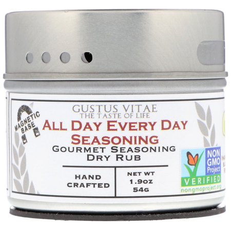 Gustus Vitae  Gourmet Seasoning Dry Rub  All Day Every Day Seasoning  1 9 oz  54 g