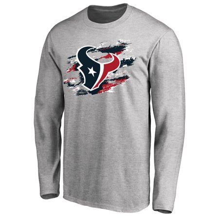Houston Texans NFL Pro Line True Colors Long Sleeve T-Shirt - Ash