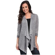 Stetson Western Sweater Womens L/S Cardigan Gray 11-038-0514-0684 GY