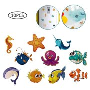 JuLam Anti Slip Sticker for Bathtub, Sea Creatures Self Adhesive Anti Slip Stickers, Cartoon Waterproof Mat Stickers for Bathtub, Pool and Upstairs