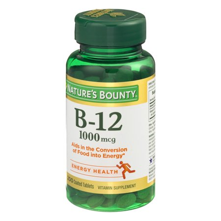 Nature's Bounty Vitamin B12 Tablets, 1000mcg, 200Ct