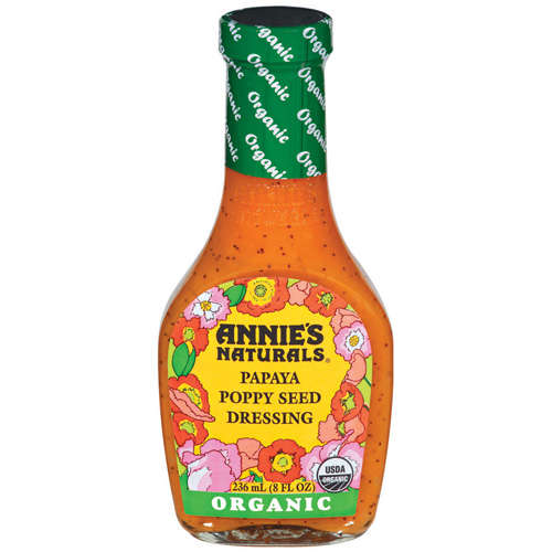 Annie's Naturals Organic Papaya Poppy Seed Dressing 8 fl. Oz  (Pack of 6)