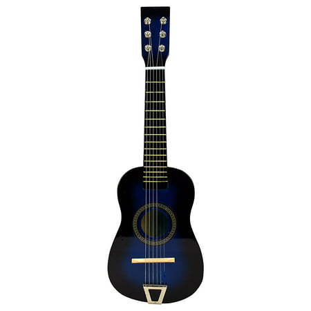 Acoustic Classic Rock 'N' Roll 6 Stringed Toy Guitar Musical Instrument w/ Guitar Pick, Extra Guitar String (Blue) - Rock Toys