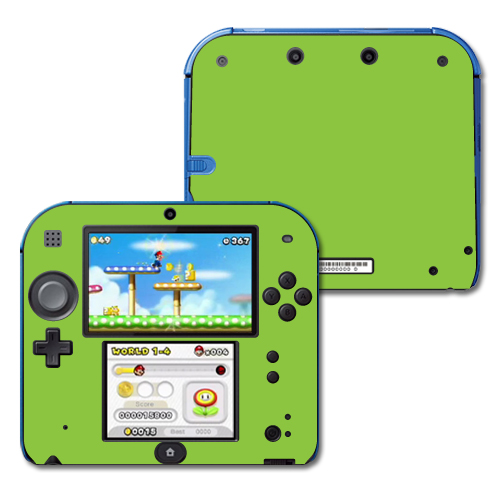 Mightyskins Protective Vinyl Skin Decal Cover for Nintendo 2DS wrap sticker skins Solid Green