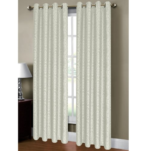 "Mirabel Jacquard Extra-Wide 54"" x 84"" Grommet Curtain Panel"