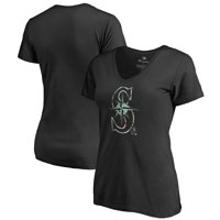 d242be8a873 Product Image Seattle Mariners Fanatics Branded Women s Lovely V-Neck  T-Shirt - Black