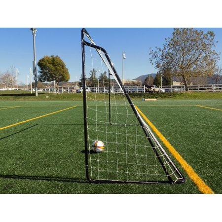 b1152a3396c Vallerta® 12 x 6 Ft. Black Powder Coated Galvanized Steel Soccer Goal w Net.  12x6 Foot AYSO Regulation Size Portable Training Aid.