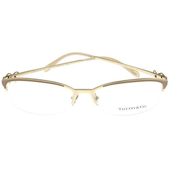 e35eff37cc Womens Eyeglasses Designer Gold Semi Rimless TF1102 6021 Size  Lens   Bridge  Temple  55-16-140 - Walmart.com